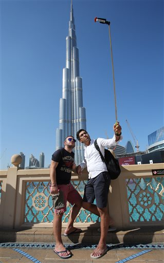 Mideast Emirates Selfie Sticks
