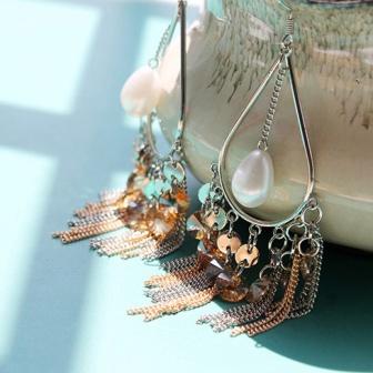 2015-Beautiful-Bohemian-Beads-Long-Tassel-Earrings-Pendientes-Largos-Fashion-Jewelry-Hand-Made-Christmas-Drop-Earrings
