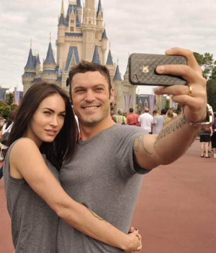 Brian-Megan-snapped-adorable-selfie-during-day-Disney